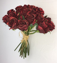 NOSEGAY ROSE BOUQUET BURGANDY