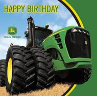LN  NAPKINS  JOHN DEERE HAPPY BIRTHDAY