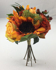 "NOSEGAY SUNFLOWER/ROSE 12"" FALL"