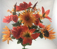 LILY GERBERA MIXED BUSH X18