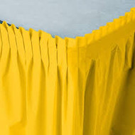 TABLE SKIRT SCHOOL BUS YELLOW