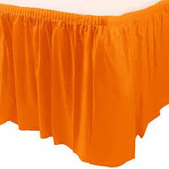 TABLE SKIRT ORANGE SUNKISSED