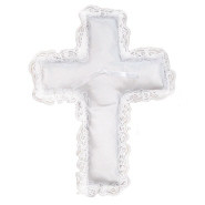 PILLOW RING CROSS W/ LACE