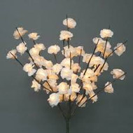LIGHTED STEMS ROSE CREAM MINI