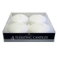 FLOATING CANDLE 4 PK WHITE