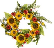 WREATH SUNFLOWER DAISY 24""