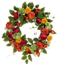 WREATH MIXED FLORAL 26""