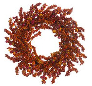 "WREATH BERRY 24"" ORANGE/RUST"