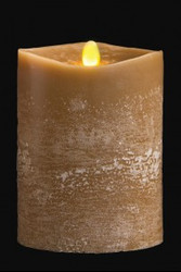 "PILLAR CANDLE LED OLIVE 4""X5"""
