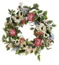 WREATH MIXED FLORAL 24""