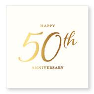 BEV NAPKINS 50TH ANNIVERSARY