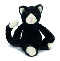 Jellycat Bashful Black & White Kitten stuffed animal