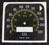 Gauge, HQ Speedo Conversion MPH to KPH Decal