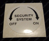 Security Decal, Door Pillar VP