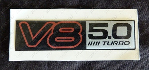"VN V8 ""TURBO"" Boot Badge"