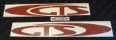 """VR GTS - Body """"GTS"""" Decal Kit - Red"""