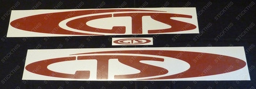 "VR GTS - Body ""GTS"" Decal Kit - Red"