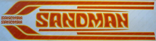 Sandman Stripe And Decal Kit Dy3 Yellow Orange Mid
