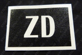 "Rocker Cover Paint Mask Stencil ""ZD"" - V8 HZ"