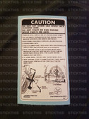 Jack Instruction Decal - VB VC VH VK VL