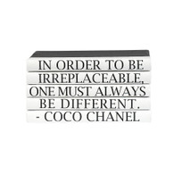 "Quotation Series: ""Different"" Coco Chanel 5 Volume Stack.."