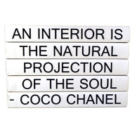 "Quotation Series: COCO ""An Interior Is..."" 5 Volume Stack"