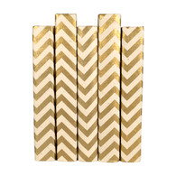 Chevron Metallic Cream