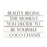 "Quotation Series: Coco Chanel ""Beauty begins the moment..."" 5 Volume Stack"