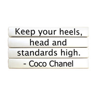 "Quotation Series: Coco Chanel ""Keeping your heels..."" 4 Volume Stack"