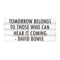"Quotations Series: David Bowie ""Tomorrow belongs..."" 4 Vol."