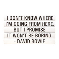 "Quotations Series: David Bowie ""I don't know where ..."" 4 Vol."