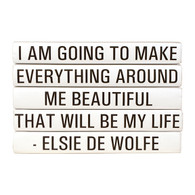 "Quotations Series: Elsie De Wolfe ""I am going to make ..."" 5 Vol."