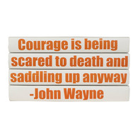 "Quotations Series: John Wayne ""Courage is...""  4 Vol."