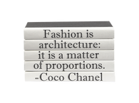 "Quotations Series: Coco Chanel ""Fashion is..."" 5 Vol."
