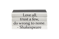 "Quotations Series: Shakespeare ""Love All..."" 4 Vol."