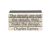 "Quotations Series: Charles Eames ""The details..."" 4 Vol."