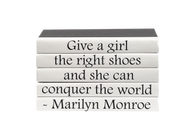 "Quotations Series: Marilyn Monroe ""...the right shoes..."""