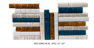Neutral mix with antique gold and steel blue - 20 vol.
