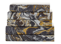 Marbled Silver and Gold on Black (Priced Individually)