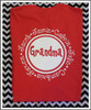 Red tee with white design