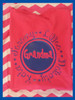 Hot pink tee with blue design