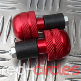 BAR END WEIGHT LARGE - RED
