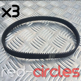 HTD 5M-575-15 ELECTRIC E-SCOOTER DRIVE BELT (3 PACK)