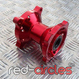 PITBIKE CNC SDG FRONT WHEEL HUB - RED