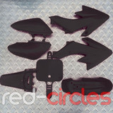 CRF50 PITBIKE PLASTIC SET - BLACK (WITHOUT SEAT PAD)