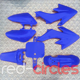 CRF50 STYLE PITBIKE PLASTIC SET - BLUE (WITHOUT SEAT PAD)