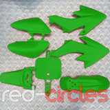 CRF50 STYLE PITBIKE PLASTIC SET - GREEN (WITHOUT SEAT PAD)