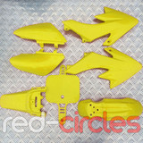 CRF50 STYLE PITBIKE PLASTIC SET - YELLOW (WITHOUT SEAT PAD)