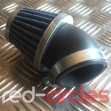 ANGLED PITBIKE K&N STYLE AIR FILTER - 50mm