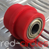 10mm RIDGED PIT BIKE CHAIN ROLLER - RED
